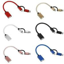 USB 3.0 OTG Adapter Cable Nylon Braid Micro USB to Data Adapter Type C Sync V1Y8