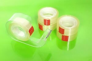 5 Rolls Of Clear Tape With Dispenser Home Office Sellotape Wrap