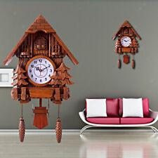 Cuckoo Wall Clock Intelligent Tell Time Decorative Clock Brown