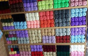 WHOLESALE JOB LOT 50 balls of hand knitting WOOL yarn SALE NEW FABULOUS 100g !