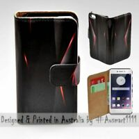 For OPPO Series - Black Polygon Infra Red Print Wallet Mobile Phone Case Cover