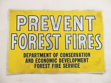 Old Original 1940s Prevent Forest Fires Sign Vintage Camping Hiking Park Warning