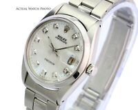 Rolex Oyster Perpetual Date SS 1500 White MOP Diamond Dial  34mm Watch