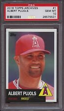 2016 Topps Archives 1 Albert Pujols PSA 10 Gem Mint