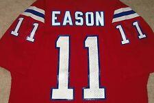 VTG AUTHENTIC 80's TONY EASON NEW ENGLAND PATRIOTS NFL SAND-KNIT JERSEY XL