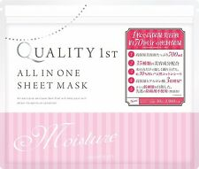 NEW Quality First 1st All in One Sheet Mask Moist 50 Sheets Free Postage Japan