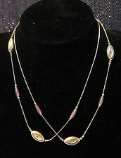 beads with a hint of lilac Lovely silver tone metal necklace with pretty
