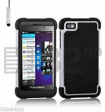 32nd Doppellagige Stoßfeste Hülle Blackberry Handys + Displayschutz & Nadel