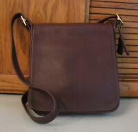 Vintage Coach 9144 Brown Leather Legacy Studio Flap Purse Crossbody Shoulder Bag