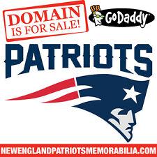 NEW ENGLAND PATRIOTS MEMORABILIA .COM - Football - NFL - Domain Name - GoDaddy