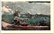 Postcard Adirondacks Guide Winslow Homer Water Color Art Institute Chicago M2