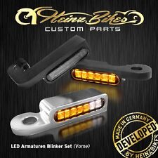 LED Blinker -Lenker Armaturen- Harley Softail, Fat Boy Special bis 2014 schwarz