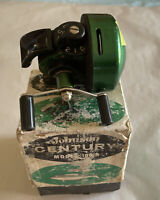 VINTAGE JOHNSON CENTURY MODEL 100-A SPIN CAST FISHING REEL MADE IN USA