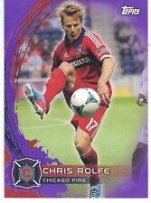 2014 Topps MLS Soccer Purple Parallel #42 Chris Rolfe Chicago Fire 39/99