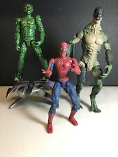 Spider-Man Movie Lot Of (3) Green Goblin Lizard Marvel Toybiz Action Figure