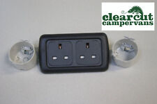 Double CBE 240v Sockets - Twin 240v Campervan/Motorhome/Caravan 3 pin sockets