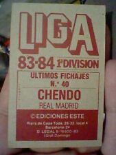 CHENDO ED ESTE FICHAJE 40 SIN PEGAR NUNCA 1983 84 83