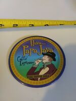 Vintage PAPA JAVA Cafe Espresso Advertising pin button pinback *EE77
