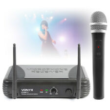 Vonyx Single 1 Channel VHF Wireless Handheld Radio Karaoke PA Microphone System