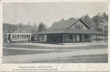 Caledonia Park PA * Trolley Station  Chambersburg & Gettysburg Railway 1906