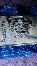 HAMAS HAND STERLING RING SIZE 7 ALL HAND MADE