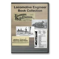 The Locomotive Engineer - 24 Historic Books CD Train Railroad Journal - D307