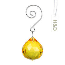 Yellow Crystal Ball Pendant Note Hook For Suncatcher Chandelier Wedding Decor