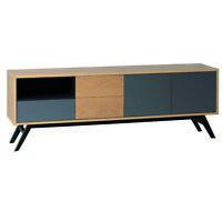 Premium TV Lowboard Fernsehschrank Phonoschrank mit Schubkasten Türen Fach