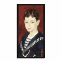 Auguste Renoir Fernand Halphen As A Boy Painting Sailor Long Framed Art Print