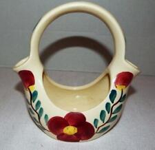 Vintage Mid-Century PURINTON POTTERY Mountain Rose Wedding Basket