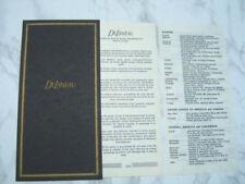 DELANEAU INTERNATIONAL GUARANTEE WARRANTY BOOKLET, NEW, UNUSED, BLANK      *6746
