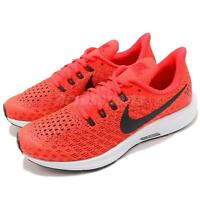 Nike Air Zoom Pegasus 35 GS Bright Crimson Gridiron White Kid Shoes AH3482-600