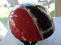 Giro Ricochet Snow Helmet Size XS-S 49-54 cm ski snowboard Red/Black Stars F2040