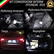 KIT LED INTERNI ABITACOLO HYUNDAI IX35 IX 35RESTYLING COMPLETO + LED TARGA 6000K