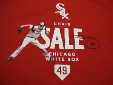 MLB Chicago White Sox Major League Baseball Fan Chris Sale #49 Red T Shirt XL