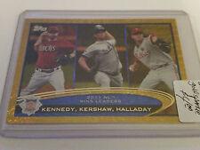 2012 Topps Gold Sparkle #156 Ian Kennedy/Clayton Kershaw/Roy Halladay LL
