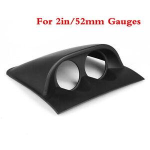 2inch 52mm Universal Black ABS Dual Hole Dash Gauge Pod Car Meter Mount Holder