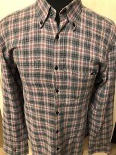 Stone Rose Red Velvet Collection Men's Shirt Size 5 Cotton Multi-color Check