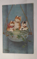""" Cats, Flower Pot, Rocker "" 1913 (33629)"