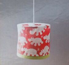 IKEA KAXIG Hanging LIGHT Childrens Nursery Ceiling Lamp Red white hippos NEW