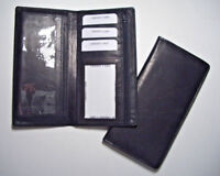 100% Genuine Leather-Checkbook cover Black (Hand Crafted)