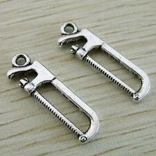 15Pcs Zinc Alloy Tools Hack Saw Charms Pendants 25x8mm 1A261