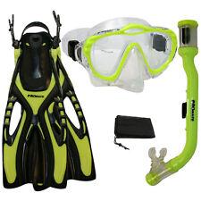 Youth Child Kids Snorkeling Purge Mask Snorkel Fin Set