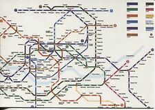 OVER SIZE POST CARD WITH MAP OF THE SEOUL SUBWAY SYSTEM WITH STOPS & LINES