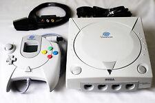 Sega Dreamcast, controller, VMU, RGB Scart, Battery Mod, Cleaned Restored BUNDLE