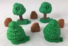 FISHER PRICE GEOTRAX Train Set REPLACEMENT Trees And Rocks LOT OF 8