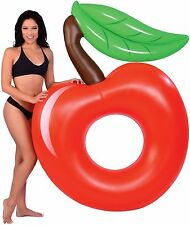 NEW Inflatable Giant Red Cherry Pool Float Raft Swim Tube Kids Adults Water Ring