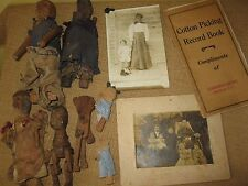 primitive antique*SLAVE MADE*BLACK MEMORIBILIA HANDMADE DOLL,wood*photo cotton