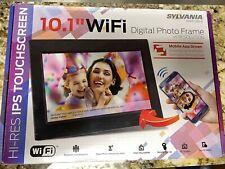 """Sylvania SDPF1095-B 10"""" Touch Wi-Fi Digital Picture Frame 8GB USB 2.0 & Mini US"""