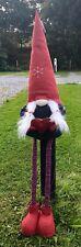 Wichtel ,rote Zipfelmütze, Zwerg Teleskopbeine 77 cm bis 124 cm